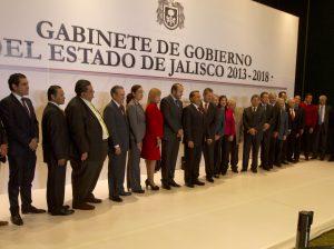 Integrantes del gabinete de gobierno del estado de Jalisco