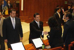 Jorge Aristóteles Sandoval Díaz, al asumir como gobernador de Jalisco