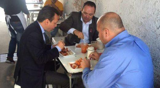 Enrique Alaro, Alberto Uribe y Pablo Lemus