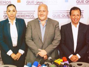 Enrique Alfaro, Pablo Lemus y María Elena Limón