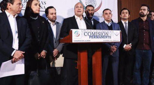 Enrique Alfaro y alcaldes en DF