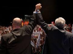 Enrique Alfaro y López Obrador