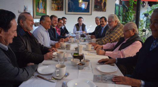 Abel Salgado y ex alcaldes