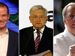 Candidatos Anaya, Amlo y Meade