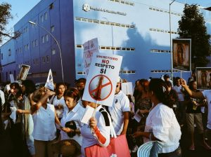 Manifestación contra Sincretismo