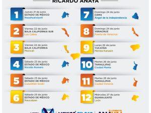 Ricardo Anaya agenda de cierres campaña