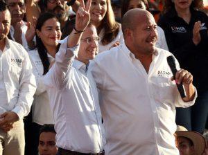 Ricardo Anaya y Enrique Alfaro en Chapala